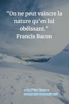 citation de Francis Bacon sur la puissance de la nature Citation Nature, Quote Citation, Inspiration Entrepreneur, Visual Statements, Celebration Quotes, Slogan, Quotations, Texts, Francis Bacon