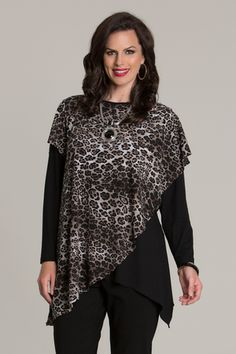 6057 Animal Magic Overlay Top
