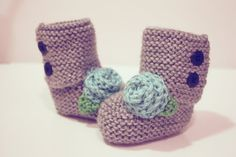 Knit Baby Girl UGG Style Boots The Elisa by ElephantShoesKnits, $30.00