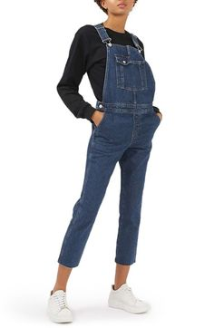 Topshop Moto Raw Hem Overalls available at #Nordstrom