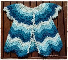 The cutest chevron sweater. free pattern. baby girl. Crochet.