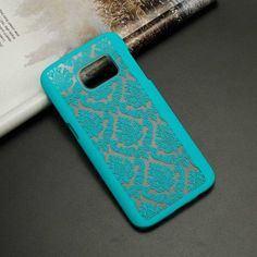 Engraved Damask Pattern Case Cover For Samsungs, Edge phones