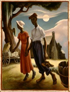 Romance - Thomas Hart Benton, 1931-32 This is beautiful! Favorite painting in the Blanton