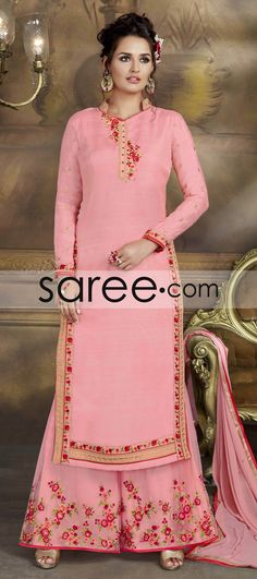 PINK ART SILK SUIT WITH EMBROIDERY WORK  #SalwarSuit #SalwarKameez #AnarkaliSuits #Ootdfashion #Sareedotcom #Fashion #OnlineSalwarSuits #PartywearSalwarSuits #SalwarSuits #Indowestern