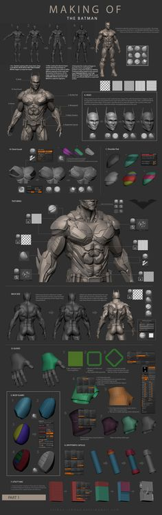 Making of The Batman - part 1 Zbrush Character, 3d Model Character, Character Modeling, Character Design, Character Art, Zbrush Tutorial, 3d Tutorial, Sculpting Tutorials, Art Tutorials