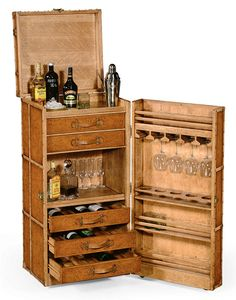alcohol cabinet - something like this, smaller different wood