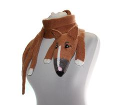 Special listing for Nancy Chhor / Knitted Scarf dog by TaniaSh