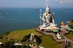 Photo about Huge idol of Lord Shiva, in the Hindu temple in Murudeshwar, Karnataka India. Image of india, idol, religious - 22018171 Archaeological Survey Of India, Switzerland Tourism, Moon Beach, Shiva Linga, Last Rites, Two Rivers, Hindu Temple, Lord Shiva, Pilgrimage