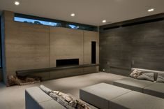 Attain an eco-friendly interior by going for rammed earth structures.