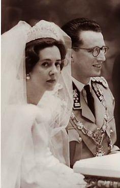 Wedding of King Baudouin of Belgium and Doña Fabiola de Mora y Aragón, December 15, 1960.