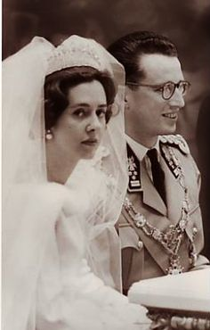 Wedding of King Baudouin of Belgium and Doña Fabiola de Mora y Aragón, December 15, 1960.
