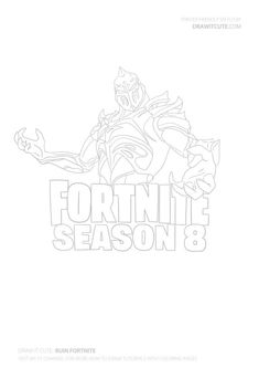 How to draw Evil Suit | Fortnite Season 8 tutorial