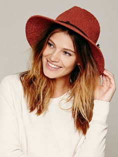 Free People Rusty Canvas Hat in Rust STYLE# 29193836