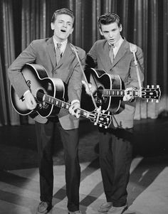 The Everly Brothers 'hit' in 1957 and transformed harmony in rock and roll -- I was 'goners' for Phil (on the left here)
