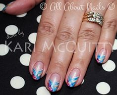 And for our ladies out there that enjoy Oval shaped nails, here are some pretty plaid nails done using amore gels. Done at www.allaboutnails.org