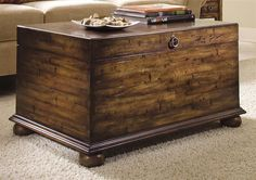 Legends Lift Top Coffee Table w Storage and Bun Feet