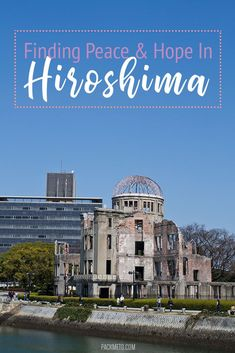 """Experience a different side of Japan when you visit Hiroshima. Step into the history of the world's first atomic bomb and learn about life before and after in Hiroshima. Japan Travel Tips, China Travel, Travel List, Budget Travel, Japan Destinations, Hiroshima Japan, Visit Japan, Mongolia, Southeast Asia"