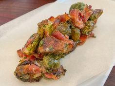 Charred Brussels Sprouts with Bacon and Maple Recipe | Geoffrey Zakarian | Food Network Veggie Dishes, Vegetable Recipes, Kitchen Recipes, Cooking Recipes, Chef Recipes, Yummy Recipes, Vegetarian Recipes, Dinner Recipes, Healthy Recipes