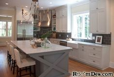 l shaped island ideas | Design kitchen l shaped, kitchen ideas and pictures, dk design ...