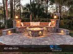 Paver Fire Pit, Fire Pit Area, Fire Pit Backyard, Outdoor Pavers, Outdoor Patio Designs, Fire Pit Landscaping, Small Backyard Landscaping, Backyard Renovations, Backyard Makeover