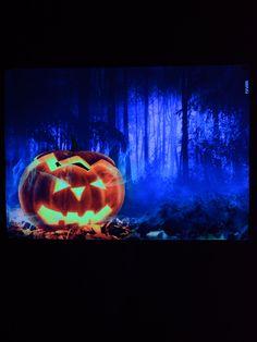 """PSYWORK Schwarzlicht Stoffposter Neon """"Halloween Pumpkin""""  #blacklight #schwarzlicht #halloween #party #deco #glowinthedark #fluo #psy #halloween2017"""