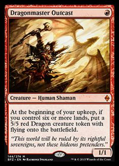 Dragonmaster Outcast x4 Magic the Gathering 4x Battle for Zendikar mtg rare card
