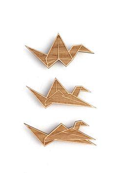 Laser Cut Origami Crane Magnets