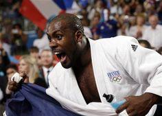Teddy Riner après sa victoire en finale contre le Russe Alexander Mikhaylin, le 3 août aux JO de...