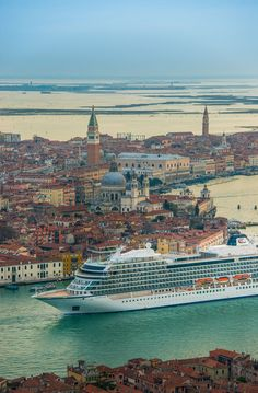 A sight to behold: Viking Sea sailing through Venice, Italy on her maiden voyage.