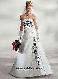 Farbige Brautmode Brautkleid 34 36 38 40 42 44 46 48 50 52 54 56 58 60 62 64  www.modekarusell.eu