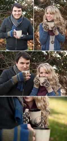 winter wedding anniversary photo shoot