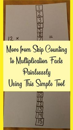 From Skip Counting to Multiplication Tables – Making It Easy – CC Memory Master – Wander Far – School at Home Learning Multiplication, Multiplication Strategies, Teaching Math, Multiplication Tables, Maths, Math Fractions, Math Vocabulary, Teaching Ideas, Division For Kids