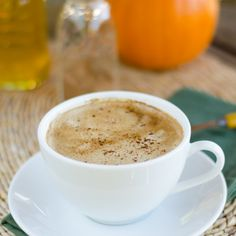 Paleo Pumpkin Spice Coconut Latte includes all the flavors of fall. It's rich, creamy and dairy-free. Click here for recipe --> cookeatpaleo.com/...
