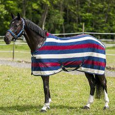Equi-Theme Stripe Polar Fleece Rug: £28.99