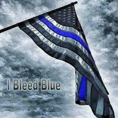 I Bleed Blue | Shop rustic concealed gun cases at www.santanwoodworks.com | Military gifts for men | Concealed gun cases | Wooden American flag | Wooden home decor