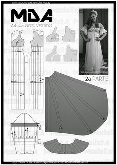 ModelistA: A4 - NUM - 0024 - VESTIDO