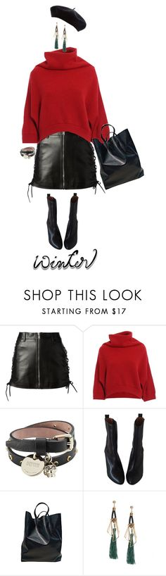 """""""Sweater Weather"""" by weird-betty ❤ liked on Polyvore featuring Yves Saint Laurent, Brunello Cucinelli, Alexander McQueen, IRO, CÉLINE and wintersweater"""
