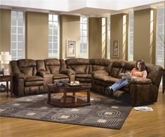The One I Want Ashley Tambo Pewter Gray Contemporary Motion Reclining Sectional Sofa