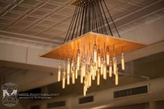 Our large Edison bulb chandelier. b-squaredinc.com