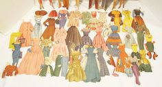 lucy and ricky dolls   LOVE LUCY 1953 WHITMAN PACKAWAY KIT PAPER DOLLS SET W/ BOX LUCILLE ...