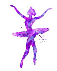 Ballerina print ballerina silhouette balleria by FluidDiamondArt Ballerina Silhouette, Ballerina Kunst, Ballerina Poses, Ballerina Project, Art Rose, Contemporary Abstract Art, Pet Portraits, Printable Art, Original Paintings