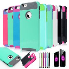 For Apple iPhone 6  6S/6S  Plus Hybrid Rubber Rugged Impact Protective Case Hard Cover #Pandamimi