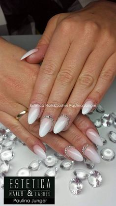 Baby Boomer w kolorach Gel Polish Chick Nude & Mr White by Paulina Junger…