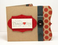 Cutie by Lisa Johnson, I love how she decorates the insides of her cards, too.