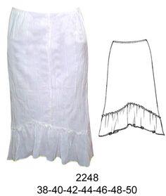 9b003316df 2248 Falda Bambula con Elastico en Cintura