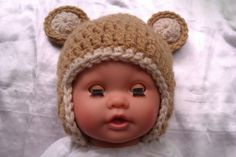 Babymütze gehäkelt Bär