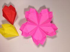 簡単折り紙 桜のお皿