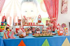 Circus first birthday party