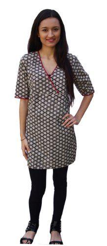 Ayurvastram Pure Cotton Tunic, Top, Dress, Kurti; Hand Block Printed $24.99 (save $25.01)