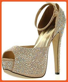 Eye Candie Womens Juliana-77 Shiny High Heel Fashion Sandal a88b4a11a0f7